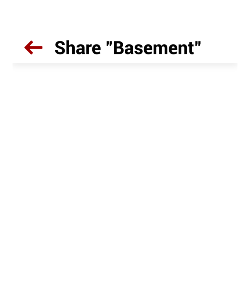 Phone displaying Salty device sharing interface